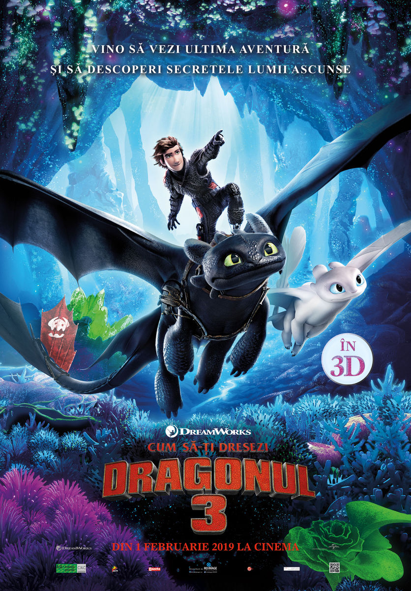Afis 3D Cum să-ți dresezi dragonul 3 - dublat (How to Train Your Dragon: The Hidden World)